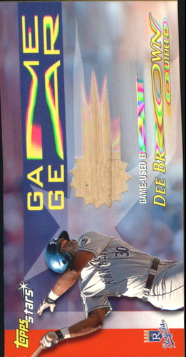 Photo of 2000 Topps Stars Game Gear Bats #GGB9 Dee Brown A