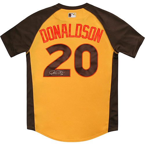 Photo of Josh Donaldson 2016 Major League Baseball Workout Day/Home Run Derby Autographed Jersey