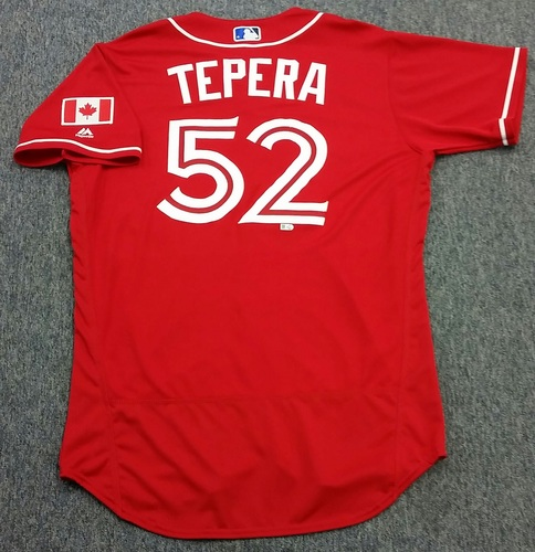 Photo of Authenticated Team Issued 2016 Canada Baseball Day Jersey - Ryan Tepera