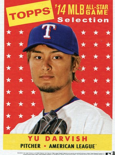 Photo of 2014 Topps 5x7 All-Star Selection Yu Darvish -- Part of exclusive Minneapolis FanFest set