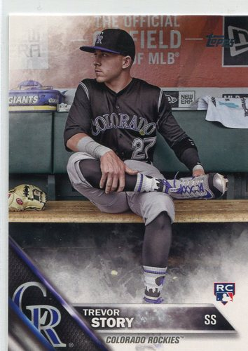 Photo of 2016 Topps Update #US226B Trevor Story SP/In dugout
