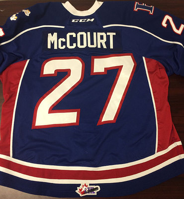 RILEY MCCOURT GAME ISSUED OHL JERSEY