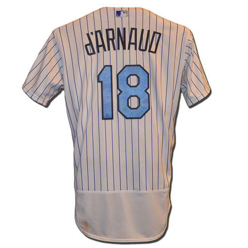 Photo of Travis d'Arnaud #18 - d'Arnaud Goes 1-4, Run Scored - Game Used Father's Day Jersey - Mets vs. Nationals - 6/18/17