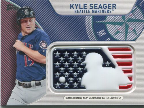 Photo of 2017 Topps Independence Day MLB Logo Patch #IDMLKS Kyle Seager