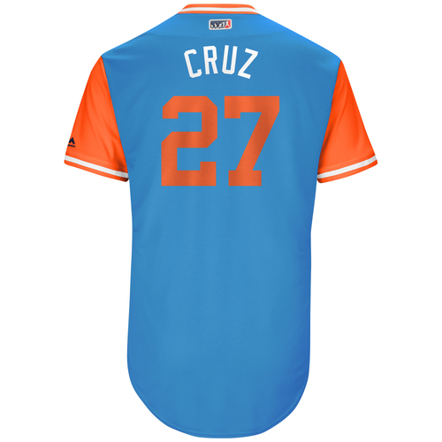 "Photo of Giancarlo ""Cruz"" Stanton Miami Marlins Game-Used Players Weekend Jersey"