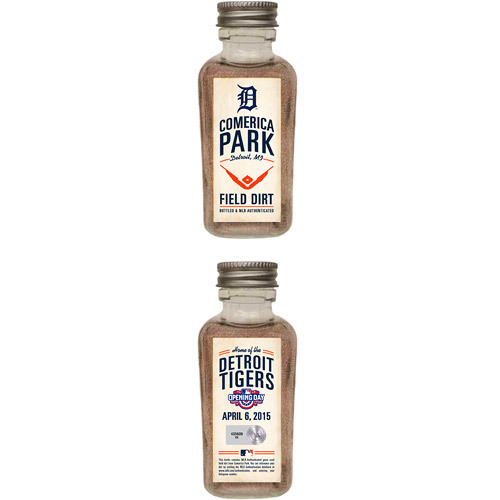 Photo of Detroit Tigers 2015 Opening Day Bottled Dirt from Comerica Park