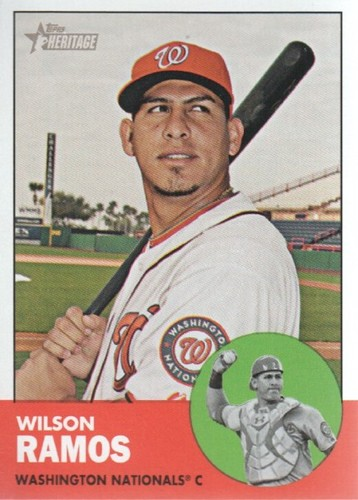 Photo of 2012 Topps Heritage #94 Wilson Ramos