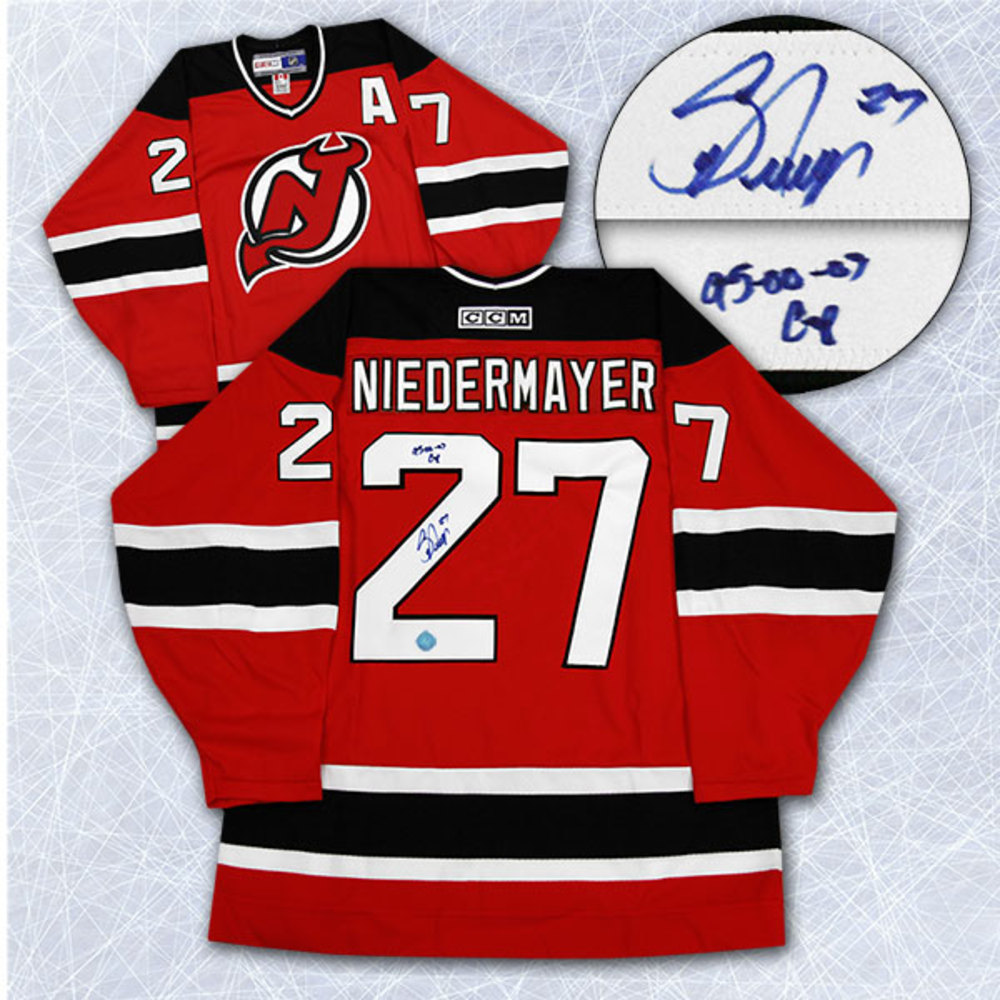 Scott Niedermayer New Jersey Devils Autographed Retro CCM Jersey w Cup Notes