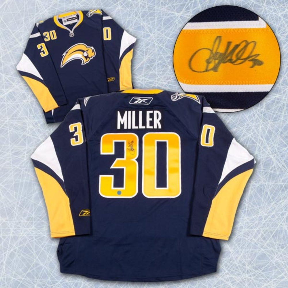 RYAN MILLER Buffalo Sabres SIGNED RBK Premier Hockey Jersey