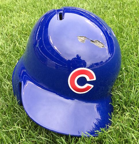 Photo of Ben Zobrist Batting Helmet -- Size 7 3/8 -- Rangers vs. Cubs -- 7/16/16