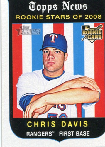 Photo of 2008 Topps Heritage #671 Chris Davis RC
