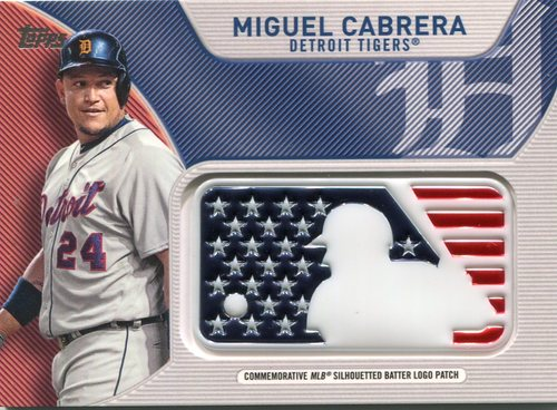 Photo of 2017 Topps Independence Day MLB Logo Patch #IDMLMCB Miguel Cabrera