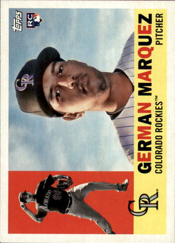 Photo of 2017 Topps Archives #71 German Marquez Rookie Card -- Rockies post-season