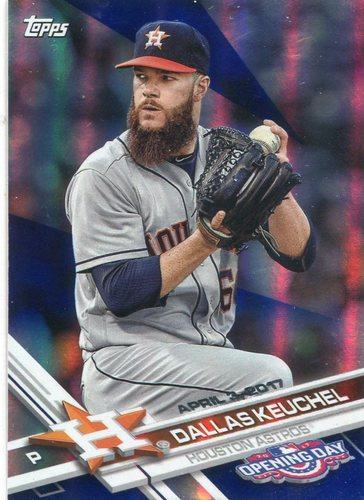 Photo of 2017 Topps Opening Day Blue Foil #171 Dallas Keuchel -- Astros ALCS roster