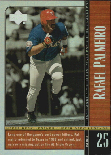 Photo of 2000 Upper Deck Legends Commemorative Collection #71 Rafael Palmeiro
