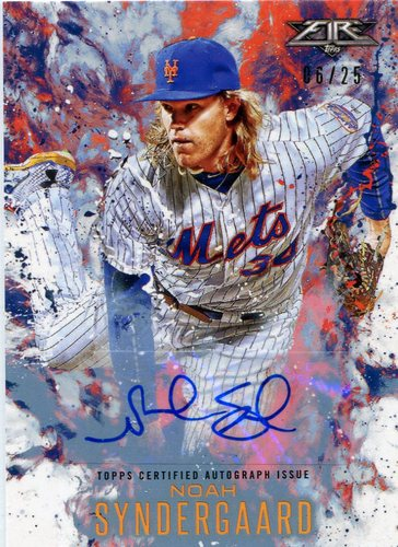 Photo of 2016 Topps Update Fire Autographs #FANS Noah Syndergaard
