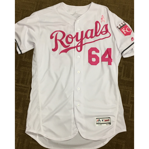 Photo of Matt Strahm 2017 Mother's Day Game-Used Pink Jersey