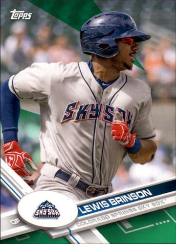 Photo of 2017 Topps Pro Debut Green #11 Lewis Brinson RC /99