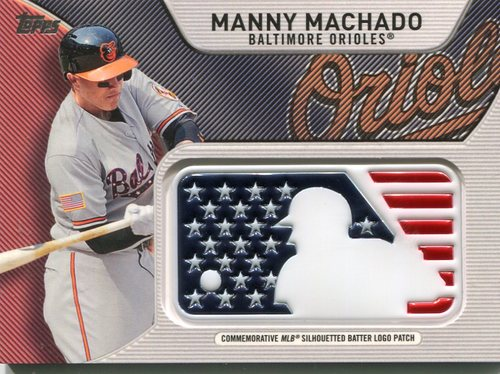 Photo of 2017 Topps Independence Day MLB Logo Patch #IDMLMM Manny Machado
