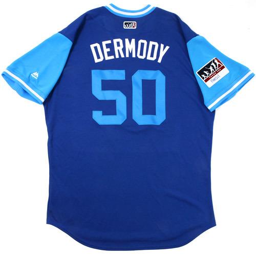 """Photo of Matt """"Dermody"""" Dermody Toronto Blue Jays Game-Used Players Weekend Jersey"""