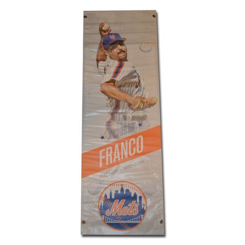 Photo of John Franco #45 - Citi Field Banner - 2015 Season