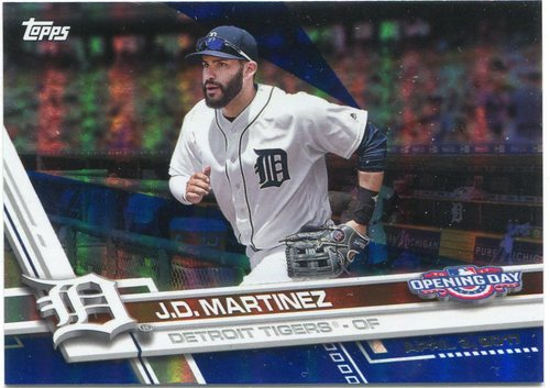 Photo of 2017 Topps Opening Day Blue Foil #172 J.D. Martinez -- Astros ALCS roster