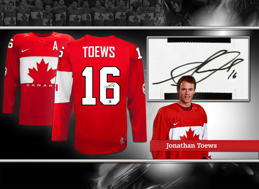 Jonathan Toews Team Canada 2014 Olympic NIKE Autographed Jersey
