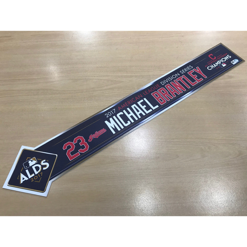 Photo of Michael Brantley 2017 American League Division Series Locker Name Plate