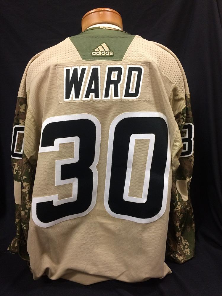 Cam Ward #30 Autographed Military Appreciation Jersey