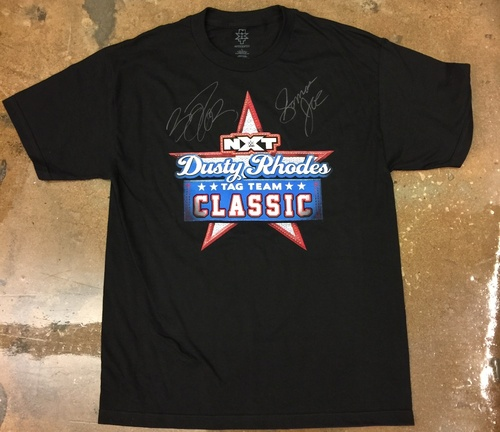 Photo of Finn Bálor & Samoa Joe SIGNED Dusty Rhodes Tag Team Class T-Shirt