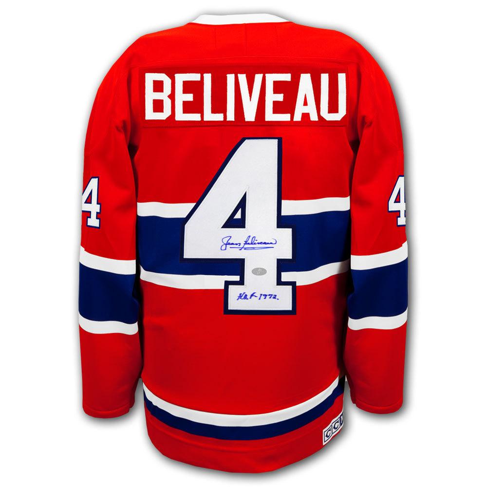Jean Beliveau Montreal Canadiens CCM Autographed Jersey