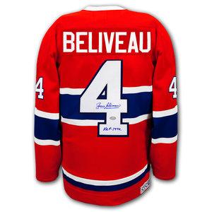 Jean Beliveau Montreal Canadiens HOF CCM Autographed Jersey