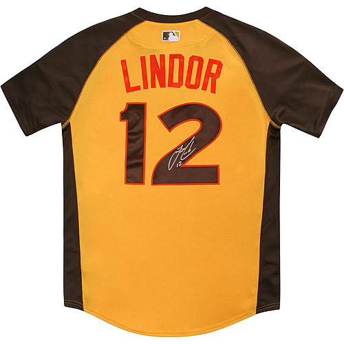 Photo of Francisco Lindor 2016 Major League Baseball Workout Day/Home Run Derby Autographed Jersey
