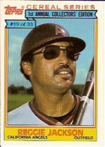 Photo of 1984 Topps Cereal #19 Reggie Jackson