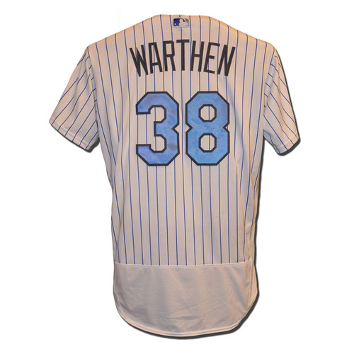 Photo of Dan Warthen #38 - Game Used Father's Day Jersey - Mets vs. Nationals - 6/18/17