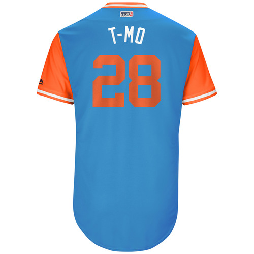 "Photo of Tyler ""T-Mo"" Moore Miami Marlins Game-Used Players Weekend Jersey"