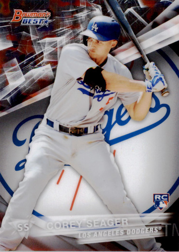 Photo of 2016 Bowman's Best #25 Corey Seager Rookie Card -- Dodgers post-season