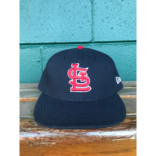 Photo of Cardinals Authentics: Seung-hwan Oh Issued Road Navy Cap 2017