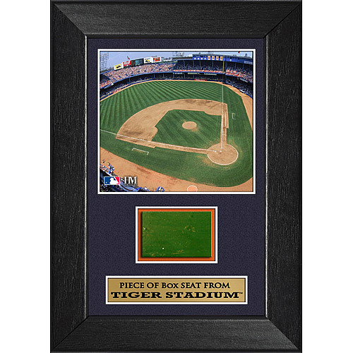 "Photo of Detroit Tigers 5""x7"" Framed Tigers Stadium Box Seat Swatch"