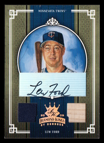 Photo of 2005 Diamond Kings Signature Materials Bronze #132 Lew Ford Bat-Jsy/200