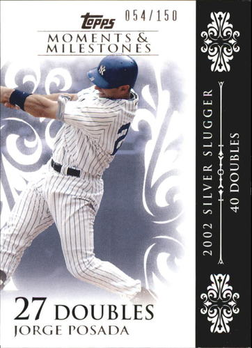 Photo of 2008 Topps Moments and Milestones #65-27 Jorge Posada