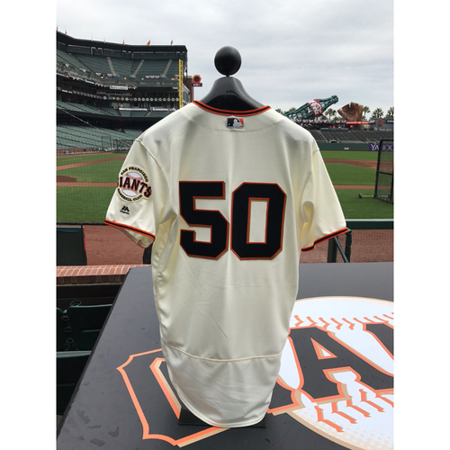 Photo of San Francisco Giants - Home Opening Day Jersey - Game Used - Ty Blach #50