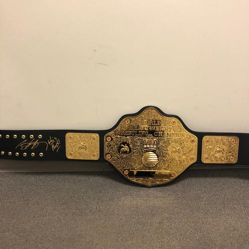 Photo of Goldberg SIGNED WCW Heavyweight Championship Replica Title