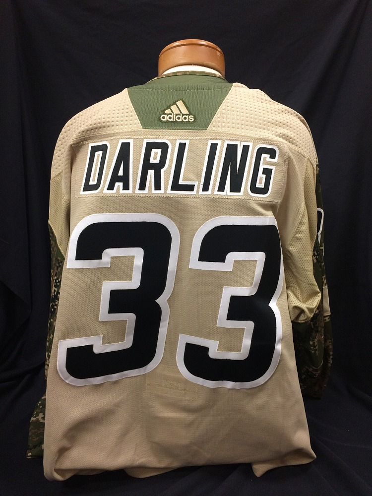 Scott Darling #33 Autographed Military Appreciation Jersey