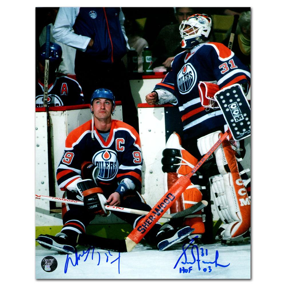 Wayne Gretzky & Grant Fuhr Autographed Edmonton Oilers 8X10 Photo