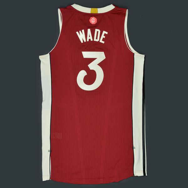 Dwyane Wade - Miami Heat - Game-Worn Jersey - NBA Christmas Day \'15 ...