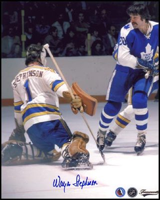 WAYNE STEPHENSON St. Louis Blues SIGNED 8x10 Photo