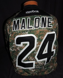 Carolina Hurricanes Authentic Military Appreciation Night Brad Malone #24 Jersey