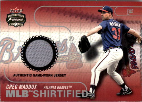 Photo of 2003 Fleer Focus JE MLB Shirtified Game Jersey #GM Greg Maddux