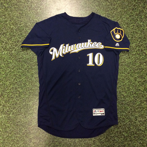 Photo of Kirk Nieuwenhuis 2016 Game-Used Navy Alternate Jersey